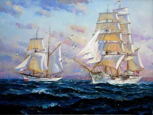 Seascape by Crimean artist S. Sviridov