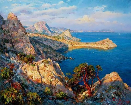 Remembering summer. Great landscape by Russian artist S. Sviridov