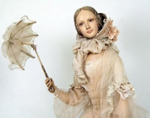 Charming doll by Russian artist Yu. Sochilina