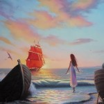 Scarlet Sails by Russian painter Ilya Morozov