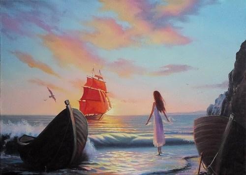Scarlet Sails by Russian painter Ilya Morozov