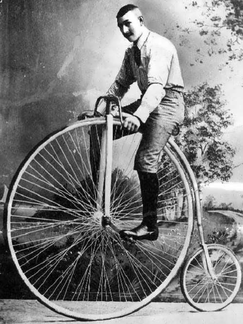 The penny-farthing bicycle