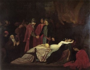 Frederick Leighton - Reconciliation of Montagues and Capulets