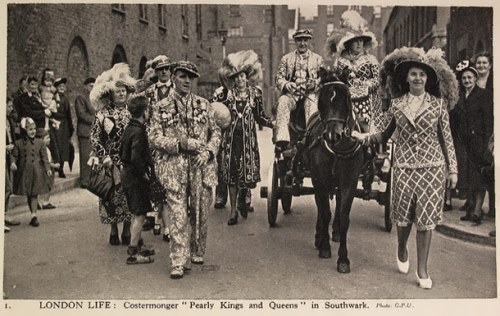Pearly Kings and Queens in the streets of London