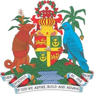 Armadillo is on the coat of arms of Grenada