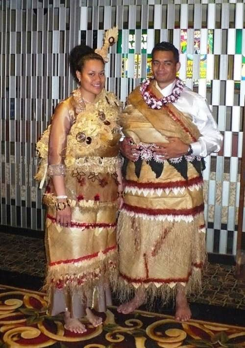 Wedding dress in Samoa
