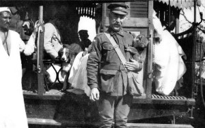 Corporal with koala, 1915. Rather, it is his mascot or pet