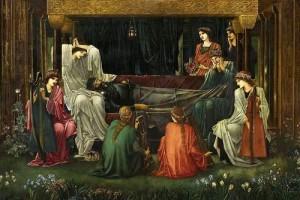 Edward Burne Jones. The last sleep of Arthur in Avalon