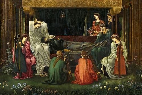Edward Burne Jones. The last sleep of Arthur in Avalon