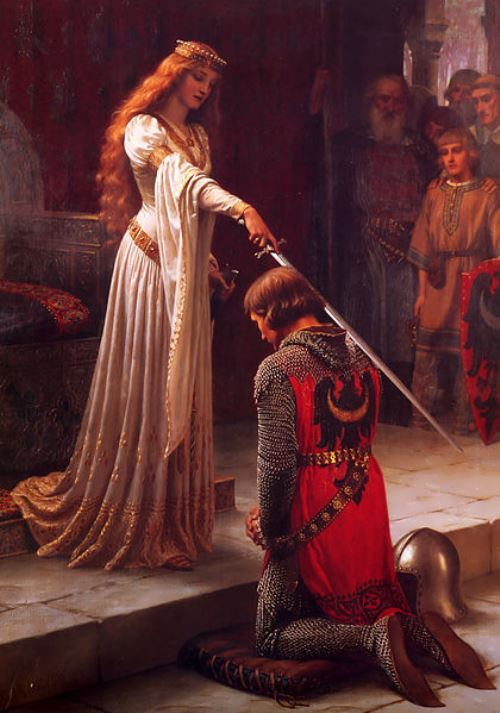 Guinevere and Lancelot. Edmund Leighton, 1901