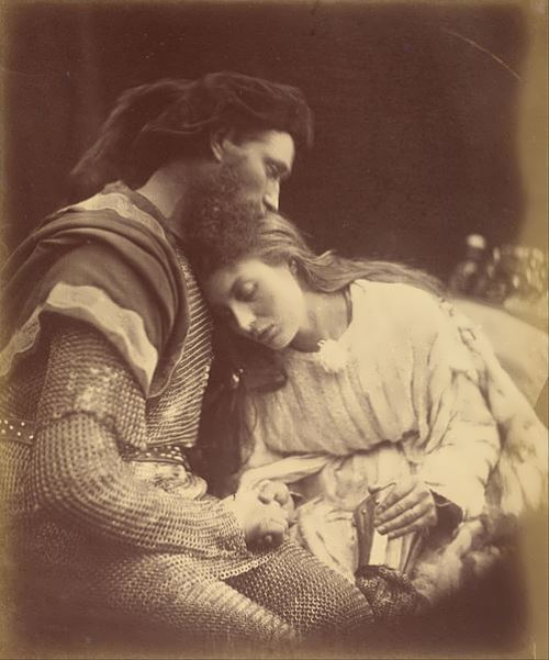 Julia Margaret Cameron. Parting of Sir Lancelot and Queen Guinevere