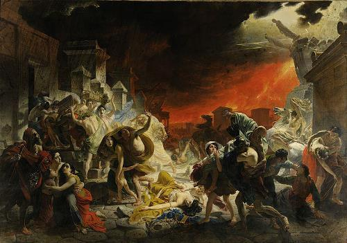 Last Day of Pompeii - the most famous painting of the eruption of Vesuvius