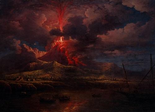Vesuvius erupting at Night by William Marlow