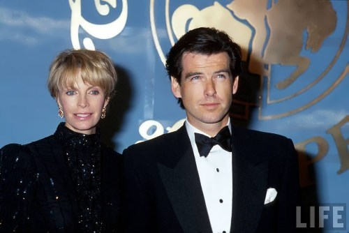Cassandra Harris and her husband Timothy Dalton