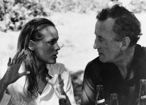 Ursula Andress and Ian Fleming