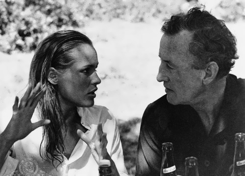 Ursula Andress and Ian Fleming