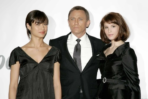 Olga Kurylenko, Daniel Craig and Gemma Arterton