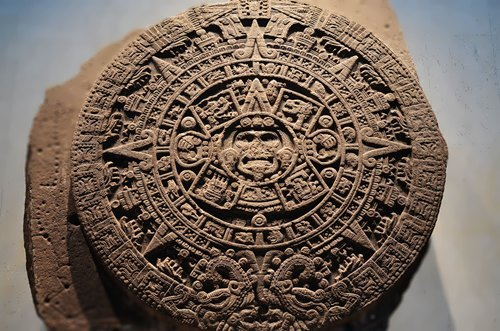 The Aztec Sun Stone, also known as the Aztec Calendar Stone