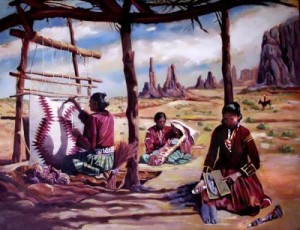 Navajo artists are famous for their rugs and blankets