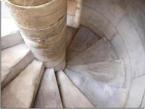 The tower of white marble has 294 steps