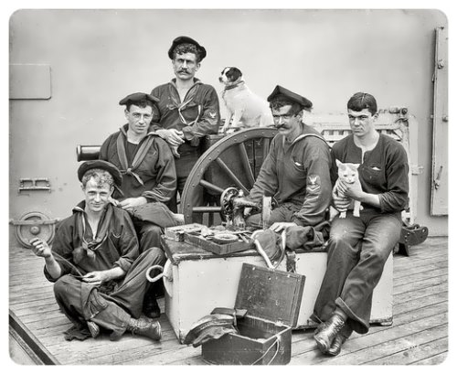 Sailors in jeans