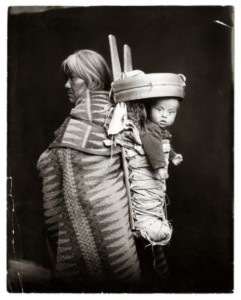 Navajo woman with the child