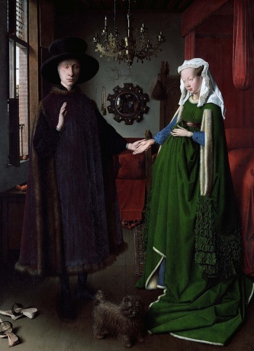 Jan van Eyck. Arnolfini Portrait, 1434. National Gallery, London