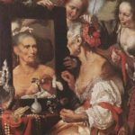Bernardo Strozzi (Cappuccino). Allegory of impermanence, or Old Coquette, 1637