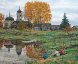 Stanislav Brusilov. Autumn on the River
