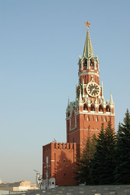 The Kremlin chimes, Moscow, Russia