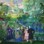 B.M. Kustodiev. Summer, Province, 1922