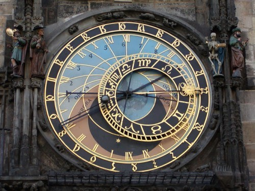 Old Town astronomical clock, Prague, Czech Republic