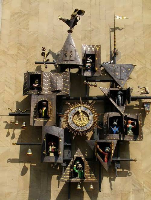 Obraztsov Puppet Theatre Clocks, Moscow, Russia