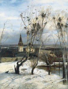 Alexey Kondratievich Savrasov. The Rooks Have Arrived, 1871