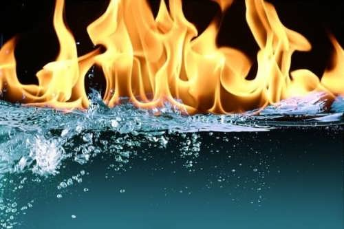 Water can burn