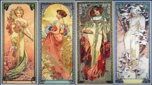 Alfons Maria Mucha. Seasons