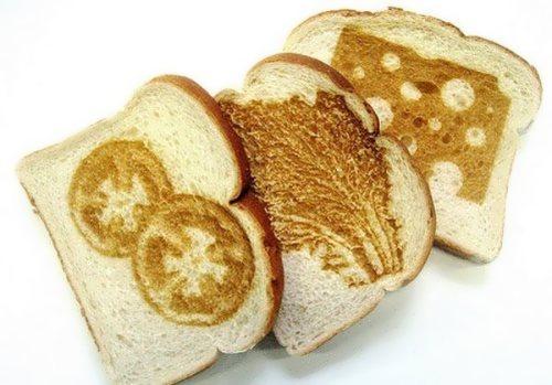 Creative slices of bread