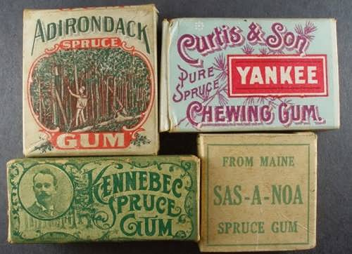 First chewing gum