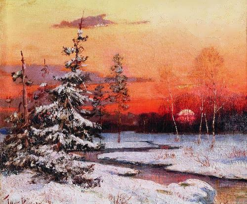 Winter landscape by Clover, 1881