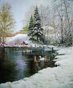 Oleg Kulagin. Winter Pond