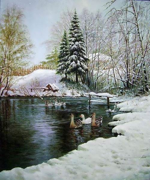 Oleg Kulagin. Winter Pond