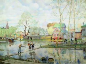 B.M. Kustodiev. Spring, 1921
