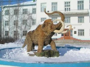 Monument to mammoth in Yakutsk