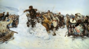 V.I. Surikov. Taking a snow town, 1891