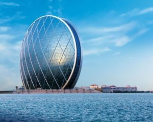 Dell'Aldar on Al Raha Beach - this is the first circular building, built in the UAE. The architectural design of the house was developed by experts of MZ & Partners Company.