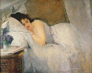 Sleep, artist Eva Gonzales