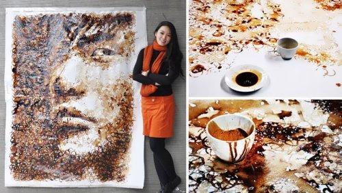 Coffee Art by Malaysian artist Hong Yi