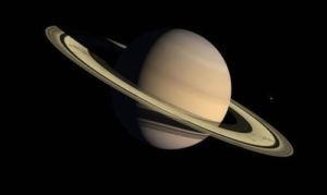 Saturn - the sixth planet from the Sun in the Solar System