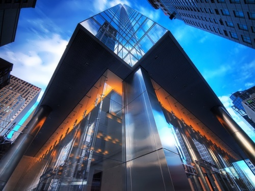 Tower in Toronto. An amazing combination of glass and chrome