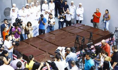 The largest chocolate bar. Guinness World Record